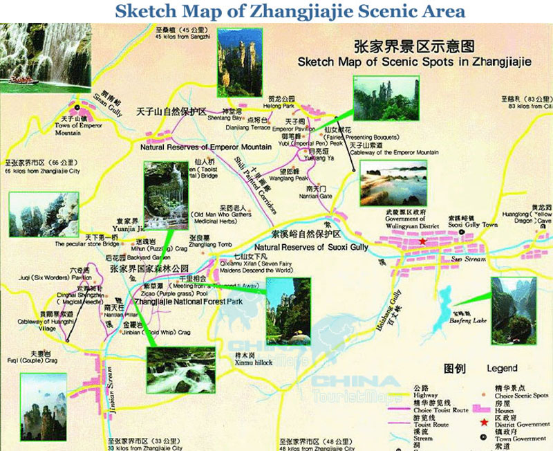 Zhangjiajie Travel Maps