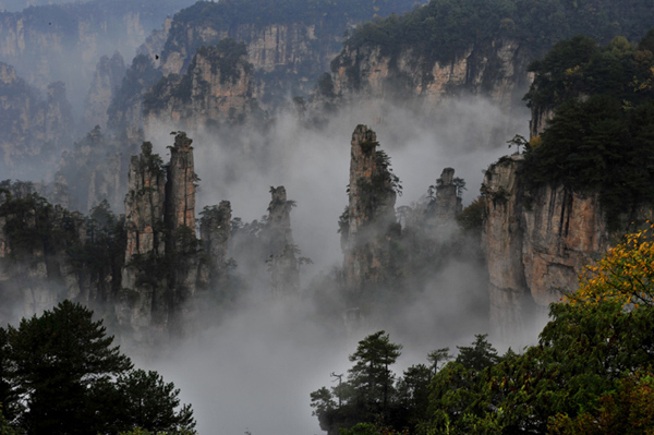 Zhangjiajie Park,The First National Forest Park of China