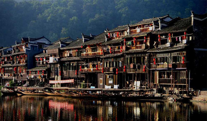 Ancient Phoenix Town in Fenghuang,China
