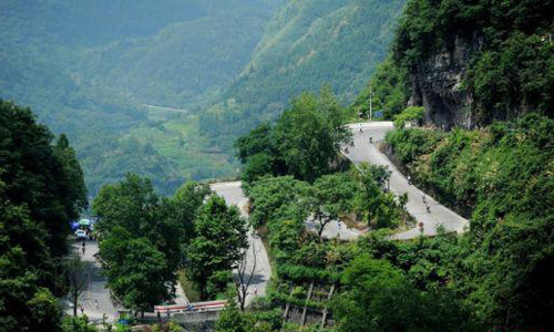 International Bicycle Invitational Tournament Held along Aizhai Highway
