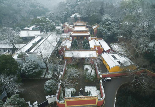 Aerial Photos Show Beautiful Snow Scenery in Hunan Province