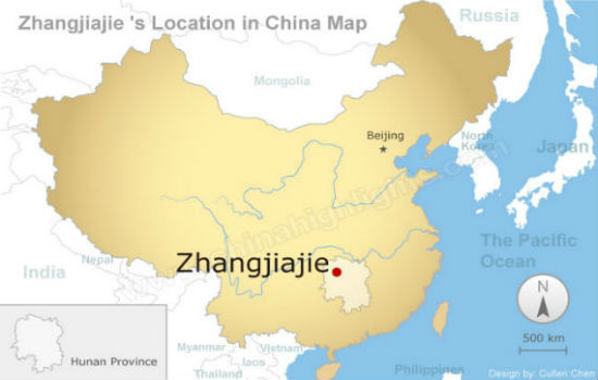 Zhangjiajie Map