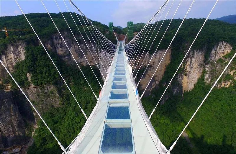 How can I get the ticket of the longest glass bridge in the world